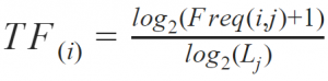 TF Formula as part of TF*IDF